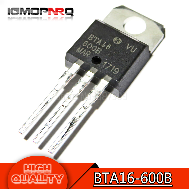 10pcs free shipping BTA16-600B BTA16-600 BTA16 Triacs 16 Amp 600 Volt  TO-220 new original10pcs free shipping BTA16-600B BTA16-600 BTA16 Triacs 16 Amp 600 Volt  TO-220 new original