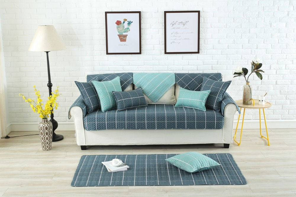 Cojines Sofa Chocolate.High Quality Combination Plaid Sofa Covers For Living