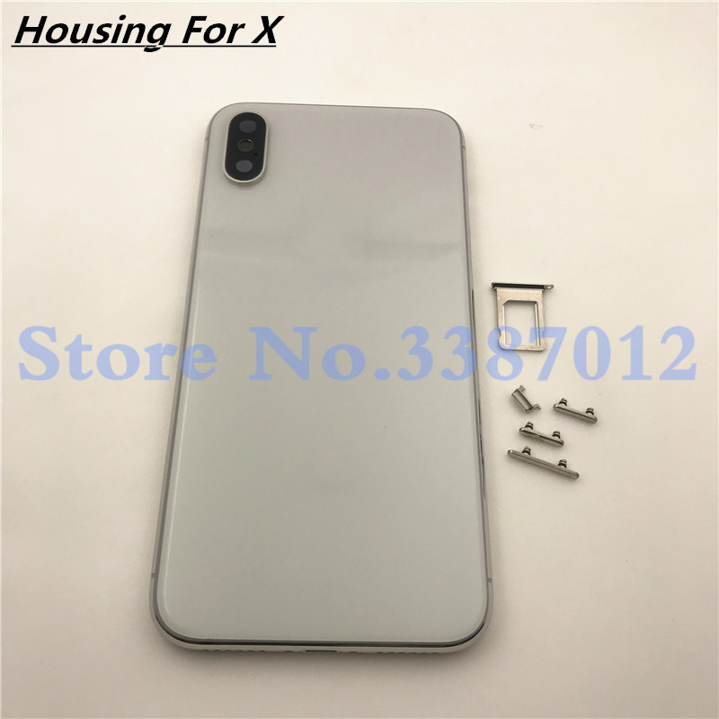 Back housing Middle Frame Chassis Full Housing Assembly Battery Cover  replacement For iphone X Housing With Logo
