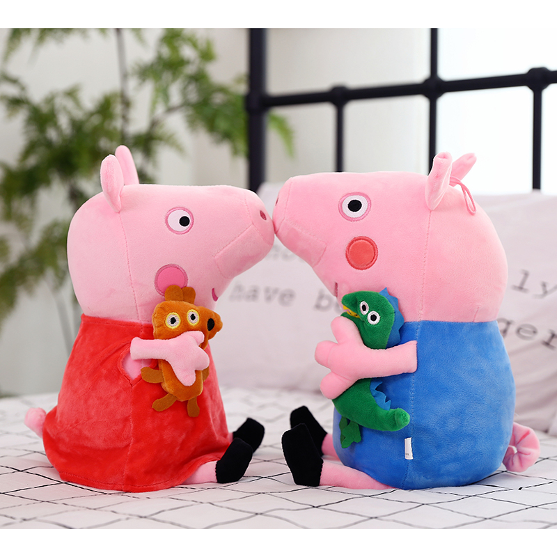 30 CM Peppa Pig Family George Peppa Dad Mom Original Pelucia Stuffed Doll Plush Toys
