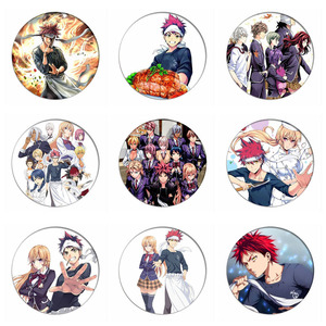 1pcs Anime Shokugeki no Soma Nakiri erina Cosplay Badge Brooch Pin Yukihira souma Cute Collection Badge for Backpack Clothes(China)