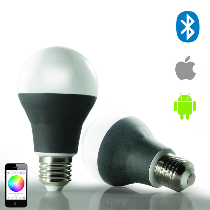Bluetooth LED Bulb Connected to phone(RGBW/CCT) Smart LED  Bulb  CCT Light Mi.light Lamp smart bulb e27 7w led bulb energy saving lamp color changeable smart bulb led lighting for iphone android home bedroom lighitng
