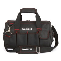 WORKPRO 14 Inch Polyester Tool Bag Multi Purpose Bag Tool Kits Bag For Knife Hammer Screwdriver