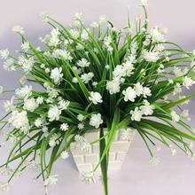 1 Uds hierba de agua Rosa Planta artificial con flores para la fiesta, hogar Oficina Decoración de la boda decoración de flor falsa 52041