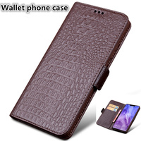 TZ16 Genuine leather wallet case with card slots for Samsung Galaxy A50 phone case for Samsung Galaxy A50(6.4') wallet phone bag
