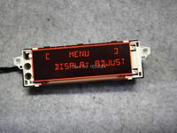(12 pinos) suporte de tela do monitor vermelho original usb aux display para citroen c4 peugeot 307 408 carro