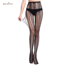 все цены на Popular Fishnet Jacquard Patterns Pantyhose Women Sexy Net Tights Adult Female Exotic Nylon Stocking Tight Stretch Slutty Dress онлайн