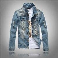 Mens Spring Autumn Slim Fit Denim Jacket Coat For Men Fashion New Brand Spring Autumn Men