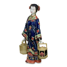 Glazed New Real Sculpture Christmas Figurine Antique Porcelain Chinese Style Art Statue Ornaments Characters Of Crafts
