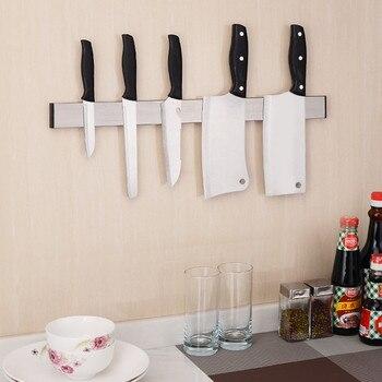 جودة عالية قوي المغناطيسي حامل السكين أداة سكين الراحة الجرف لل مطبخ حانة بار مكافحة الأسود حامل شحن مجاني