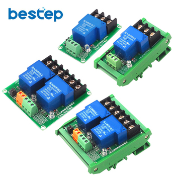 цена на 5V 12V 24V 30A 1 2 Channel High and Low Level Trigger Optocoupler Isolation Relay Module Intelligent Home PLC Automation Control