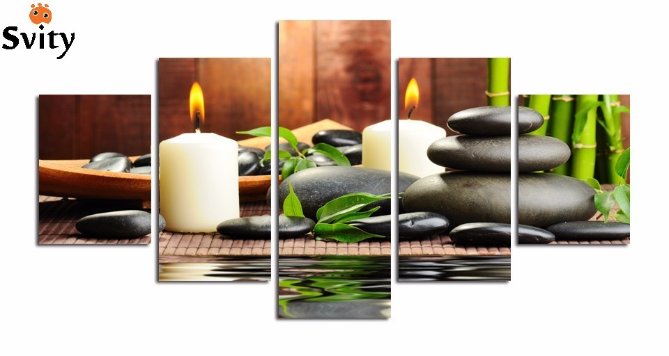 5  pcs set the SPA picture print on canvas home decoration for living room wall art painting free shipping best sell wholesale