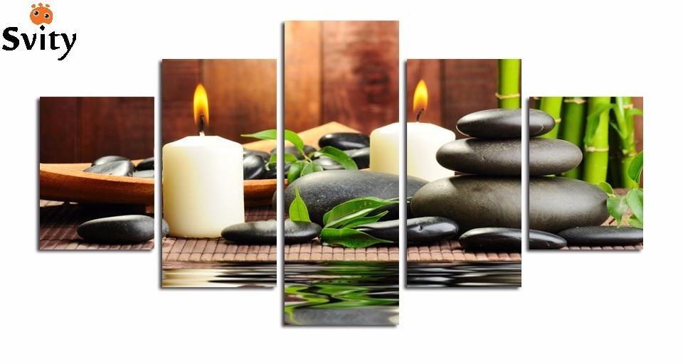 5 pcs definir o SPA imagem impressão em tela decoração de casa para sala de estar arte da parede pintura frete grátis melhor vender por atacado