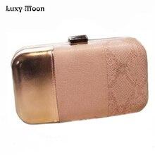 Heißer Schlangenhaut Muster Clutch Taschen Mode Rosa Abend Handtasche Elegante mini-Wallets Nachtclub Party Kupplungen Handtaschen w714