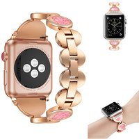 Fashion Quicksand Diamond Strap For Apple Watch Band Women Bracelet Strap 38mm 40mm 42mm 44mm For iWatch Band 1 2 3 4 As Gift