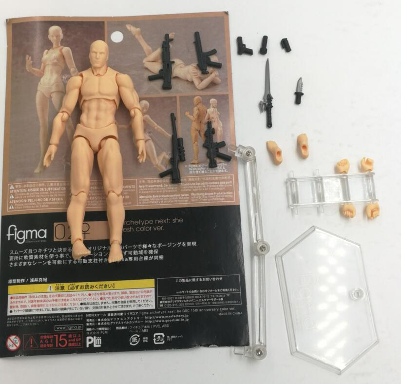 14cm Figma Archetype He/She Ferrite Action Figure Human Body Joints Male Female Nude Movable Dolls Anime Models Collections Toy