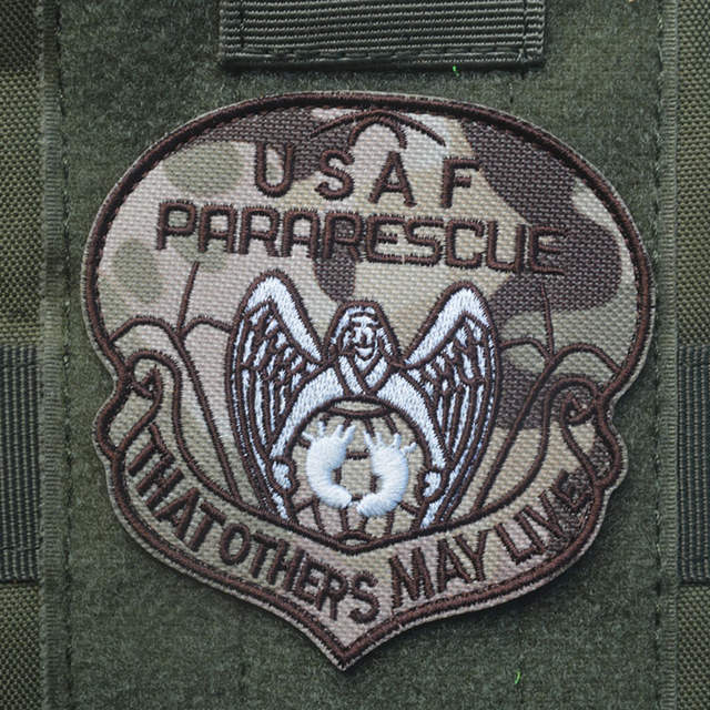 43f7ccee589 USAF PARARESCUE Tactical Patch THAT OTHERS WAY LIVE Military Combat Chest  Shoulder Armband Patch High Quality