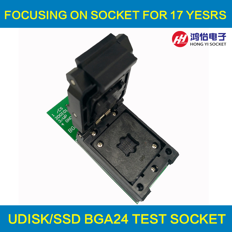 BGA24 to DIP8 1.0MM Programming Socket IC size 6*8 mm/BGA24 IC Test Socket /BGA24 to 48 burning socket U disk chip socket ic qfp32 programming block sa636 block burning test socket adapter convert