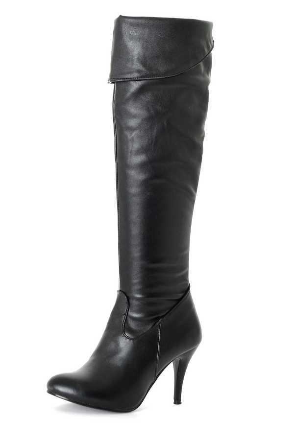 2017 venta Botas de invierno Botas Mujer talla grande Mujer invierno plegable sobre la rodilla Botas Sexy fino tacón alto moda las mujeres Shoes858