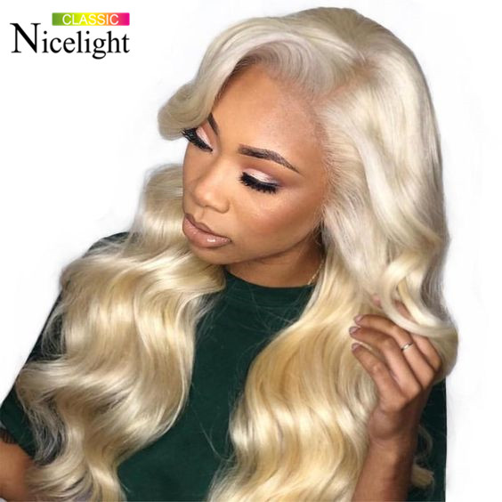 Body Wave 613 Blonde 3 Bundles With Closure Nicelight Indian Blonde Human Hair Lace Closure With Bundles Remy Hair Extensions
