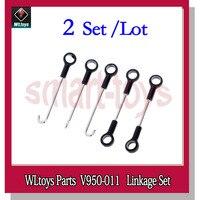 2 satz V950 Linkage Set V950-011 Verbinden Schnalle für WLtoys V950 6CH RC Hubschrauber Ersatzteile