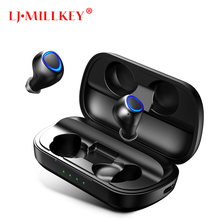 Bluetooth Earphones True Wireless Earbuds TWS 5.0 Sports Earphones Stereo Bass Headset Noise Cancelling For Phones YZ263 wireless business affairs bluetooth earphones pleasant 180 degree rotating stereo music headset noise cancellation earbuds eh