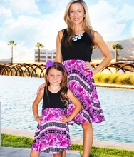 Above Knee Mother Daughter Vest Dresses Family Look Mommy and Me Clothes Mum Mom Mama Matching Outfits Dress Clothing