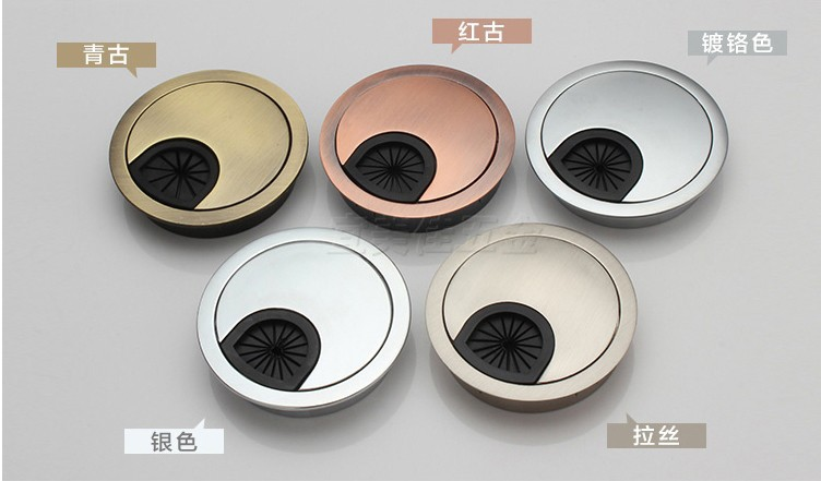 20pcs Dia.60mm Hardware Accessories Wire Hole Cover Office Furniture Computer Grommet Desk Table Cable Tidy Outlet Switch Plate