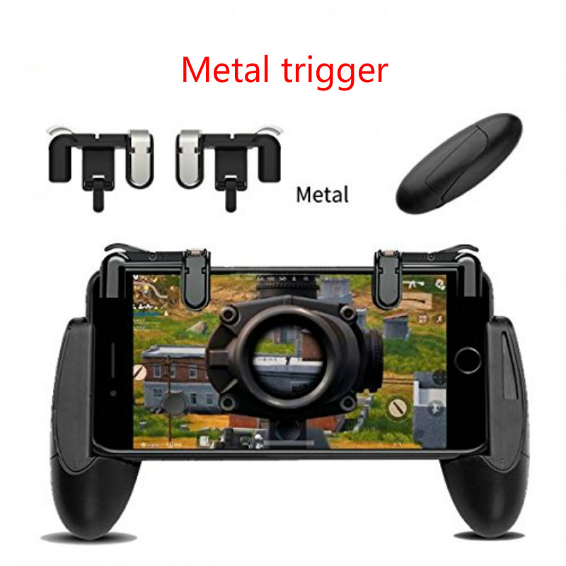 Metal L1 R1 Gaming Trigger Smart Phone Games Shooter Controller Fire Button Handle For IPhone PUBG/Rules Survival/Knives Out