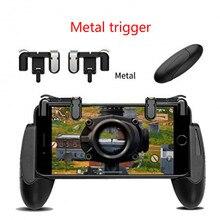 Из Металла L1 R1 игровой триггер смартфон игры шутер контроллер огонь кнопка ручка для iPhone PUBG/правила выживания/ ножи из
