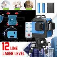 12 линий 3D 360 40 м зеленый лазерный уровень наливные измерения АВТО управление настенное крепление автоматический настенный держатель против