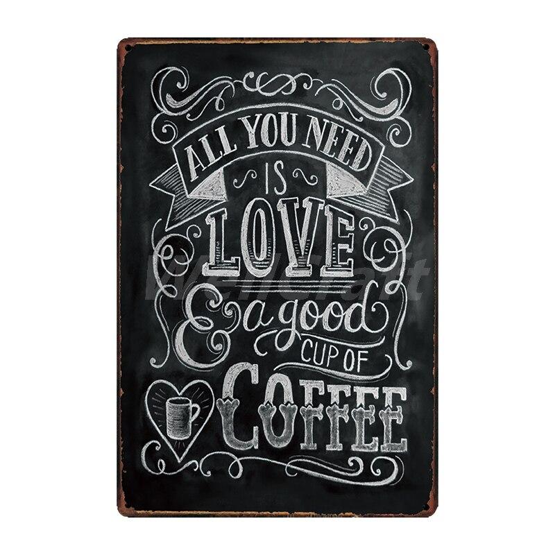 [WellCraft] кофе Коктейль любовь торт чай жестяная вывеска настенные таблички на заказ металлическая живопись античный подарок Бар Паб Декор LT-1704 - Цвет: SA-2623