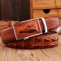 mens belts luxury cowhide Genuine Leather crocodile Automatic buckle jeans brown cowboys designer high quality epacket alligator