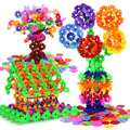 300-1200 Pcs 3D Tamanho Grande Multicolor Puzzle Floco De Neve De Plástico Blocos de Construção de Modelo de Construção de Puzzle Brinquedos Educativos
