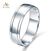 Wholesale Men S Solid Sterling Solid 925 Silver Wedding Band Ring Jewelry CFR8055