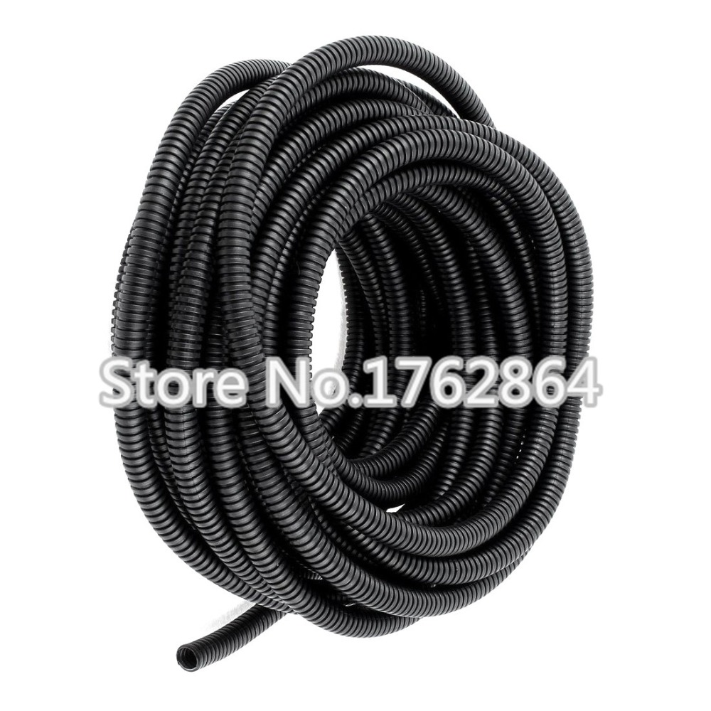 5m Lot PE Plastic Corrugated Pipe,AD10, fiber optic cable to protect the  corrugated hose,cable sheathing Sleeve 5f4b43b5b8a5