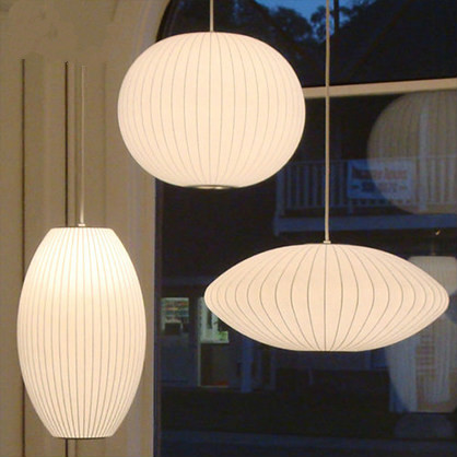 Commercial Lighting Japanese Style Silk Shade Pendant