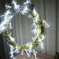 8 Режимы 10 М 100 LED Волокна Фея Огни Строки Гирлянда Открытый Рождество Привело Свет Шнура Для Свадьбы Праздник Стороной украшения