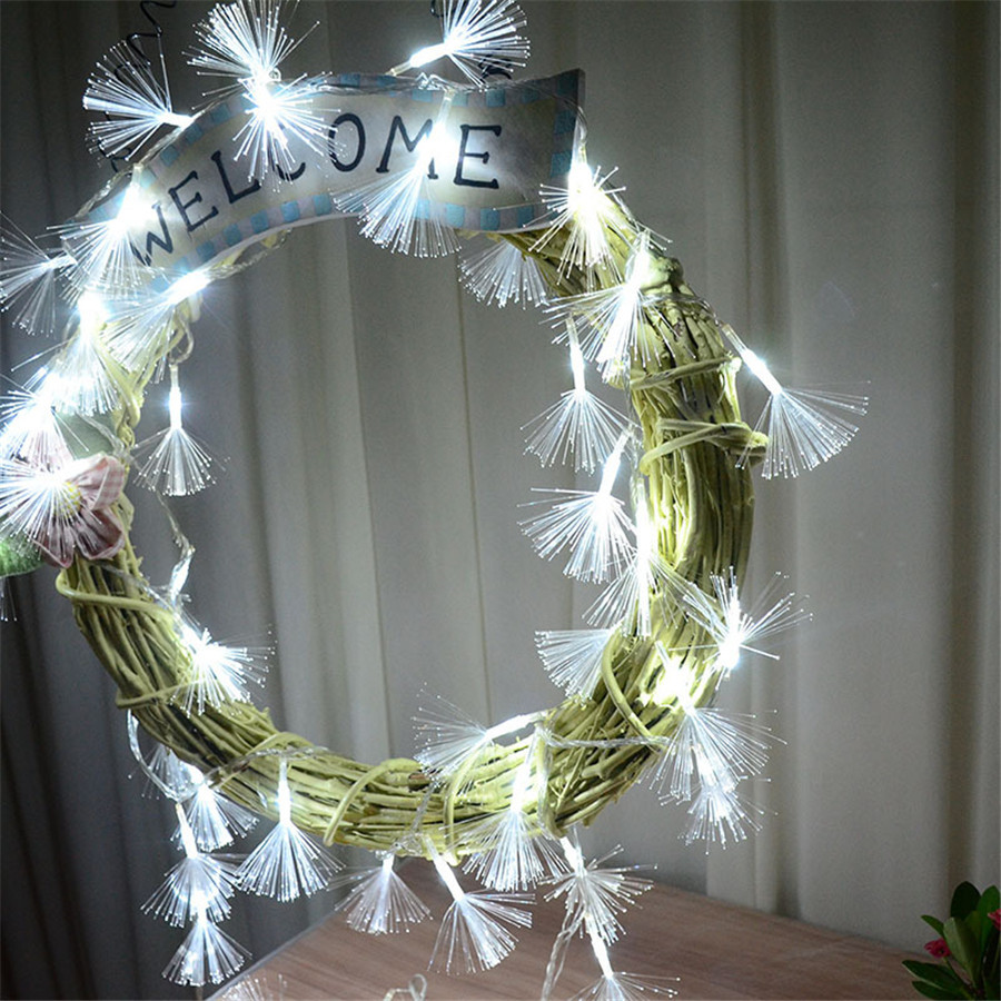 Christmas Garland String Lights : 8 Modes 10M 100 LED Fiber Fairy String Lights Garland Outdoor Led Christmas String Light For ...