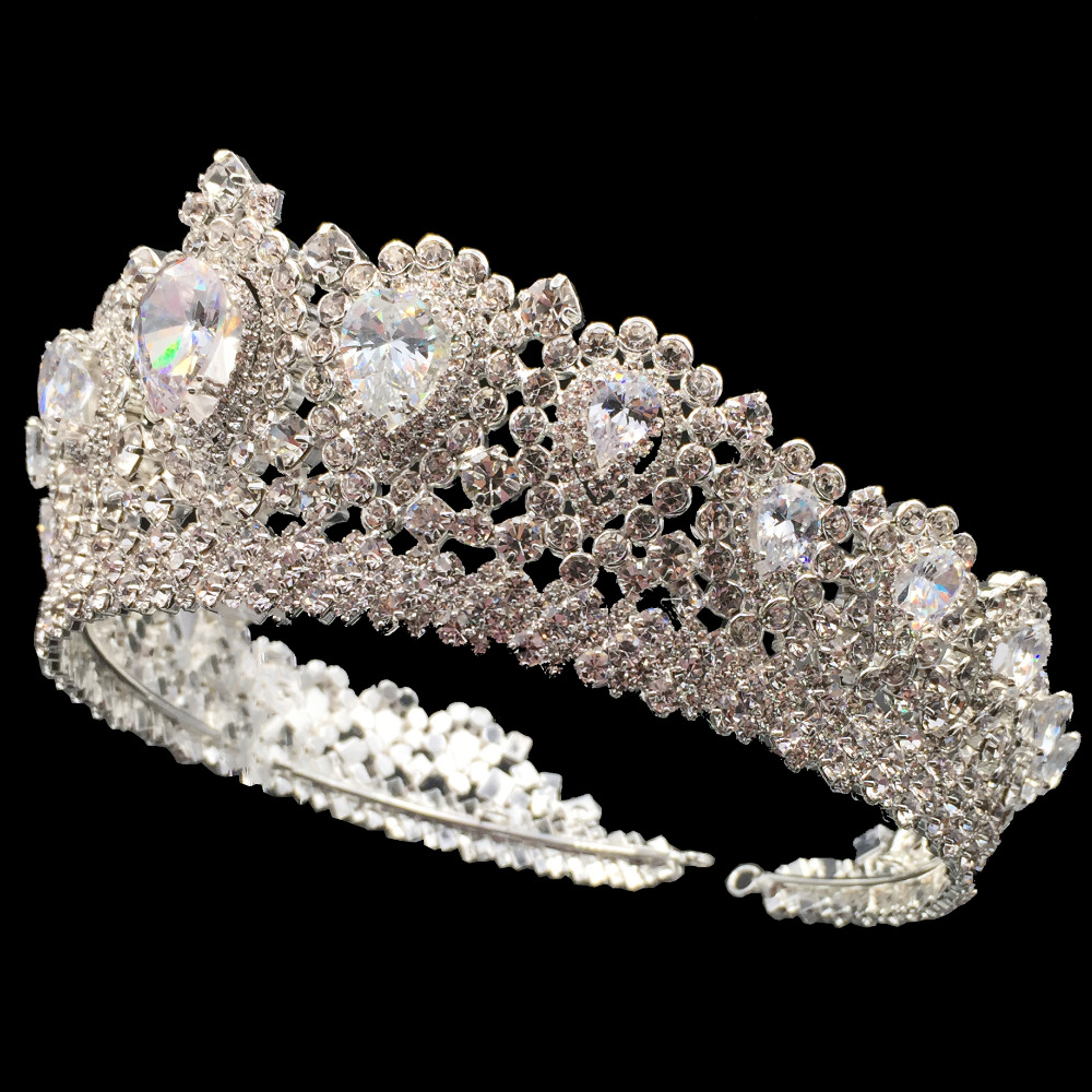 Image 4 - Hadiyana New Bling Wedding Crown Diadem Tiara With Zirconia Crystal Elegant Woman Tiaras and Crowns For Pageant Party BC3232-in Hair Jewelry from Jewelry & Accessories