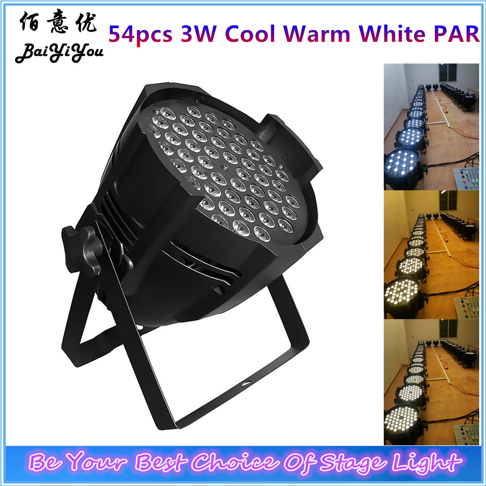 8pcs lot Free Shipping Factory Direct Sell Cheap 54x 3W Cool White Warm White LED Indoor