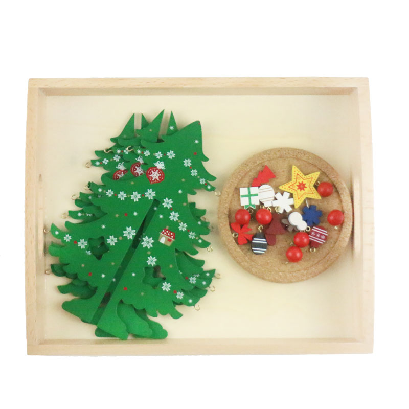 Wooden Montessori Practical Life Montessori Decor the tree Educational Early Learning Toys Juguetes Brinquedos MH1864H