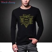 Men Seele Evangelion Neon EVA Printed Fashion High Quality Long Sleeves T-shirt Round Neck Fashion Casual Tops Plus Size s-3xl
