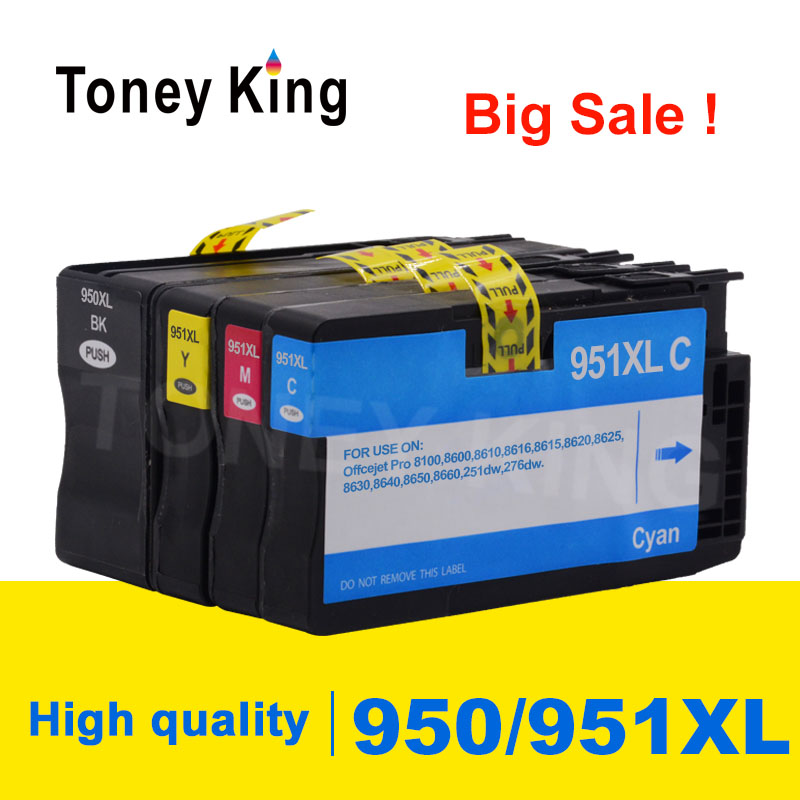 Toney King 4 Color Compatible For HP 950 951 XL Ink Cartridge 950XL 951XL For HP
