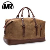 MARKROYAL мужские дорожные сумки средние багажные сумки холщовые кожаные спортивные сумки для путешествий сумки на плечо большой емкости выход...