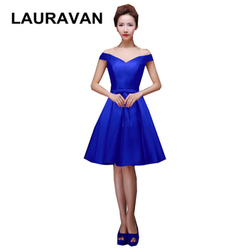 champagne bridesmaids satin short royal blue satin gowns dress bridemaids party dresses for wedding party 2019 free shipping