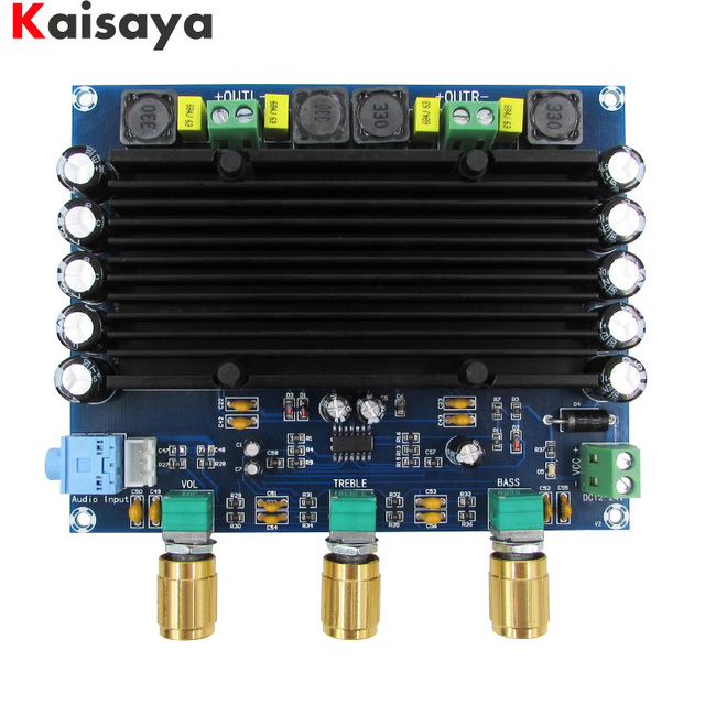XH M549 2.0 channel 2x150 W TPA3116D2 digitale audio hifi versterker board met tone gratis verzending C3 006