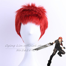 New  High quality animal cosplay Emon J Song of Time project Silvery white Hair Short 30cm Straight Anime Cosplay Wigs