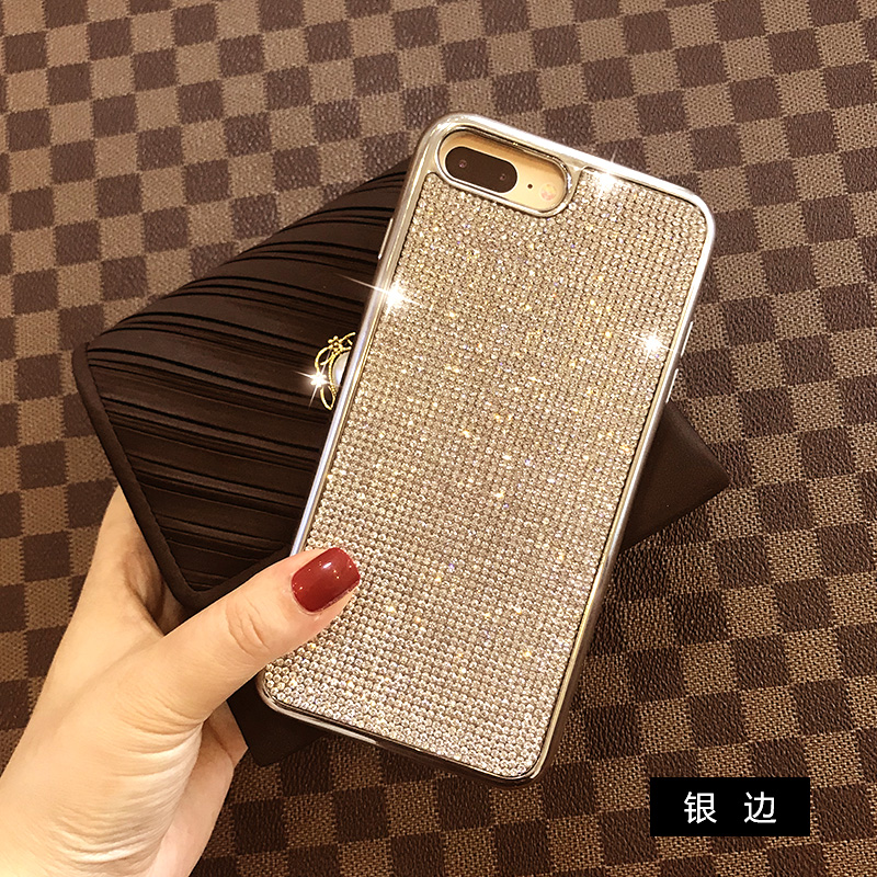 Bling Full Crystal Diamond Rhinestone Soft Electroplate Case Cover For Iphone XS Max XR X 8 7 6 6S Plus 5 5S SE