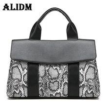 Frauen Designer Leder Handtaschen Große Schlange Stickerei Serpentin Vintage Druck retro Blumen Luxus Einkaufstasche Hohe Qualität
